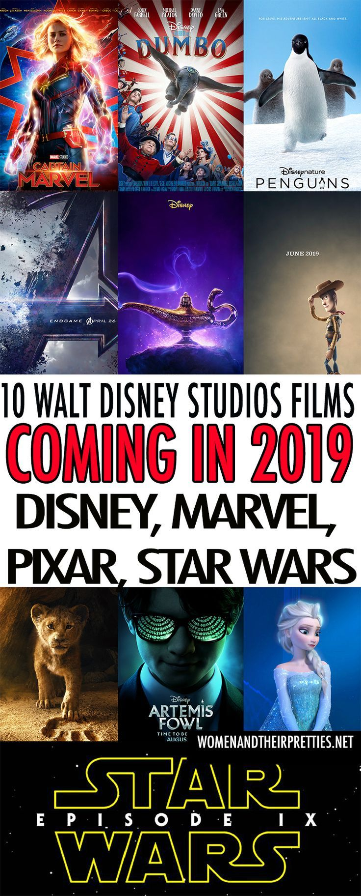 New Disney, Marvel, Pixar, & Star Wars Movies Coming in