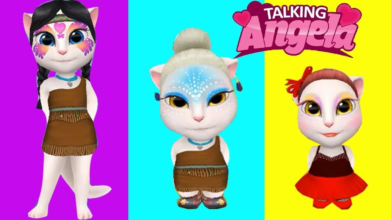 My Talking Angela Adult vs Kids vs Baby Level 10000 vs