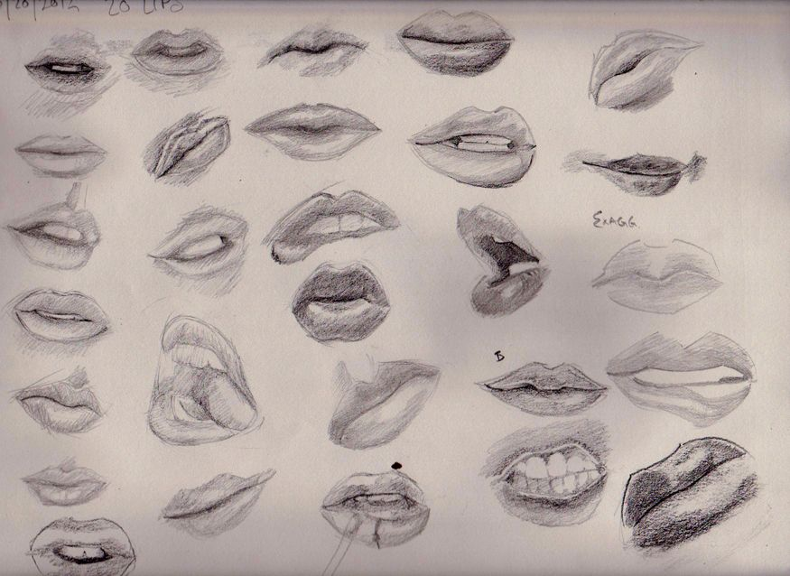 lip study by apcMurray | drawing | Pinterest | Lip biting ...
