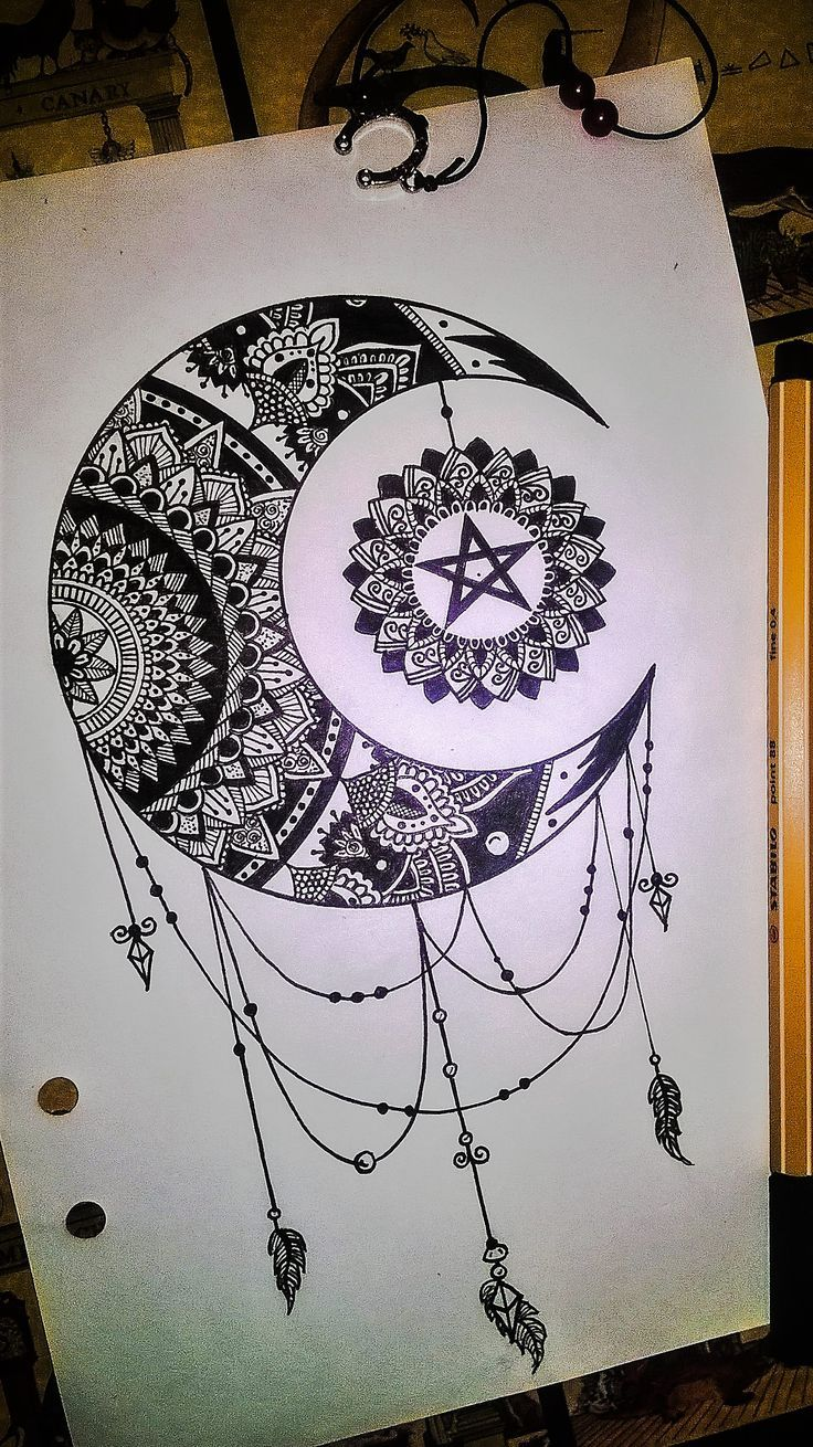 8467ea64ba982 Resultado de imagen para mandala luna tattoo | tatoos | Mandala ...