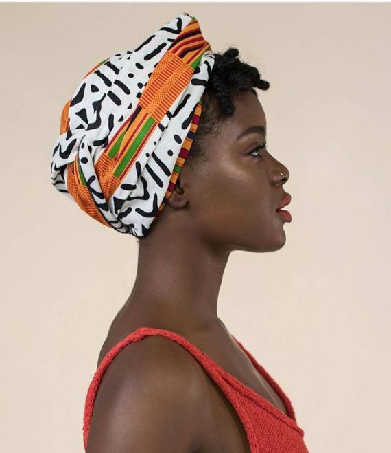 HeadWrap, Head wrap, Kente Glam Tribal Print, Afri