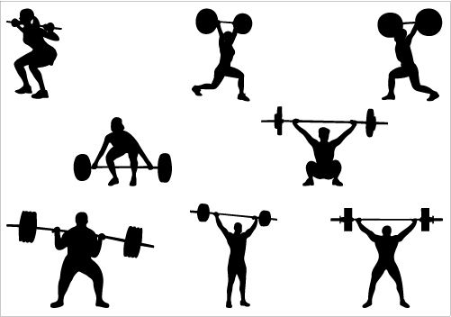 Weight Lifting Silhouette Vector Graphics | Silhouette ...