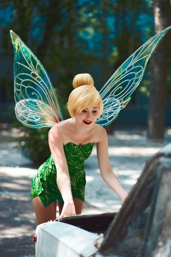 Tinkerbell Kostum Frauen Fasching Karneval Idee Perucke Flugel