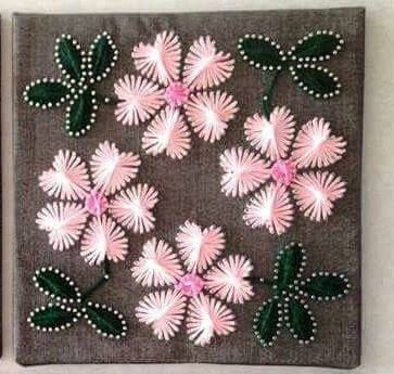 Flower String Art Flower Wall Decor Home Decorations Gift For