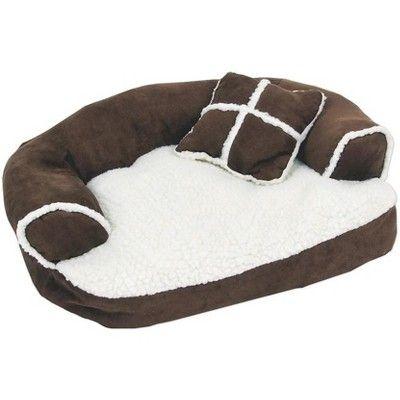 Aspen Pet Sofa Bed with Pillow Assorted Colors, Black