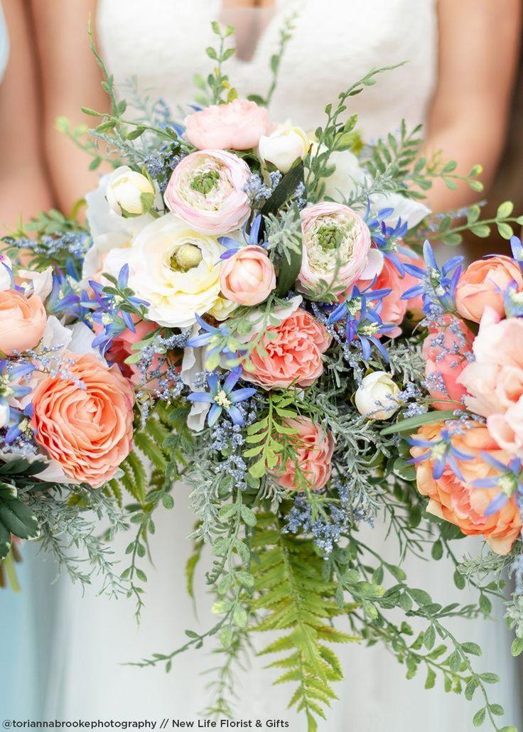 Artificial Tweedia Flowers in Blue in 2020 Wedding