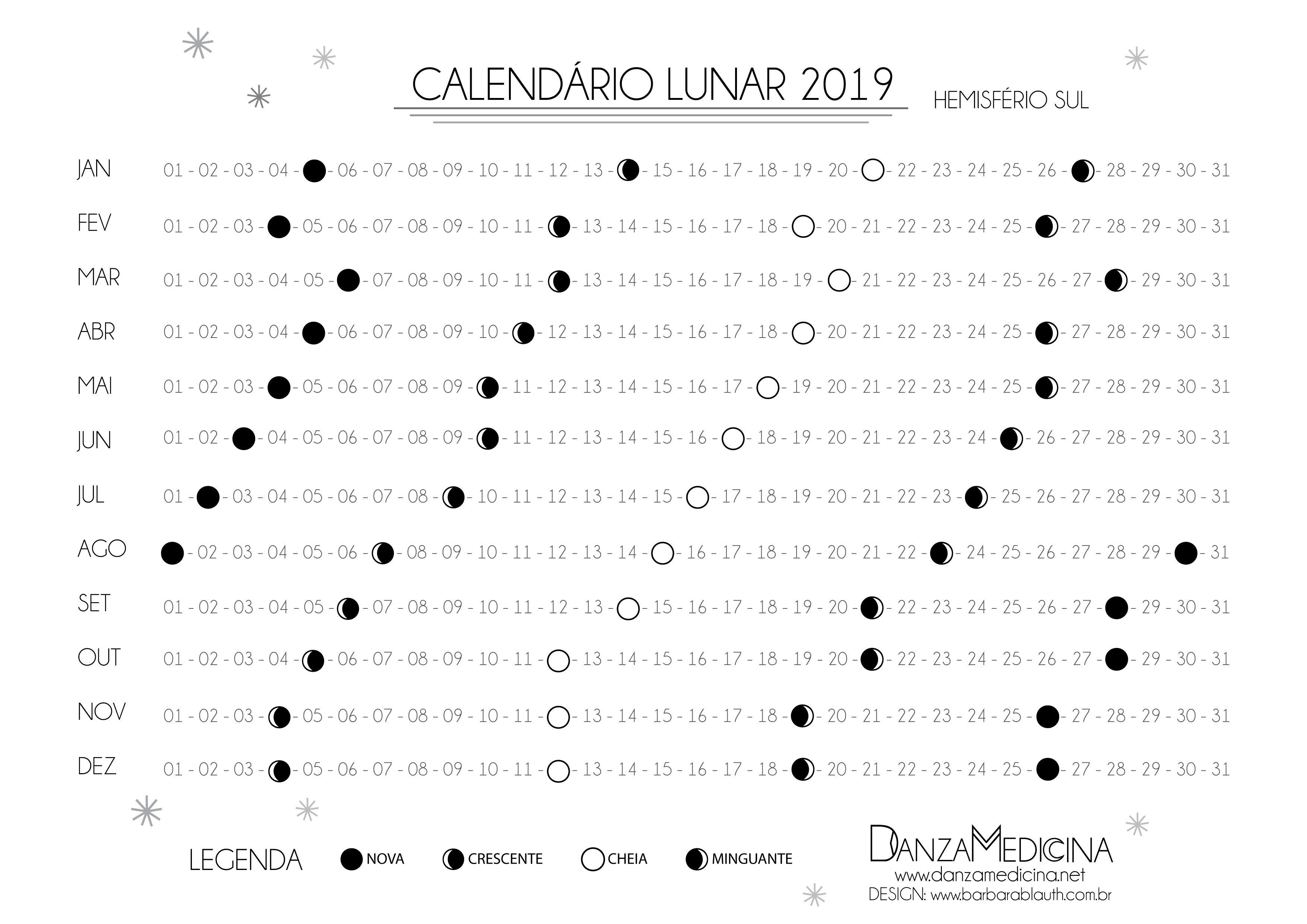 Calendario Lunar 2019 Danzamedicina Calendario Lunar Astrologia Ideias Para Cadernos