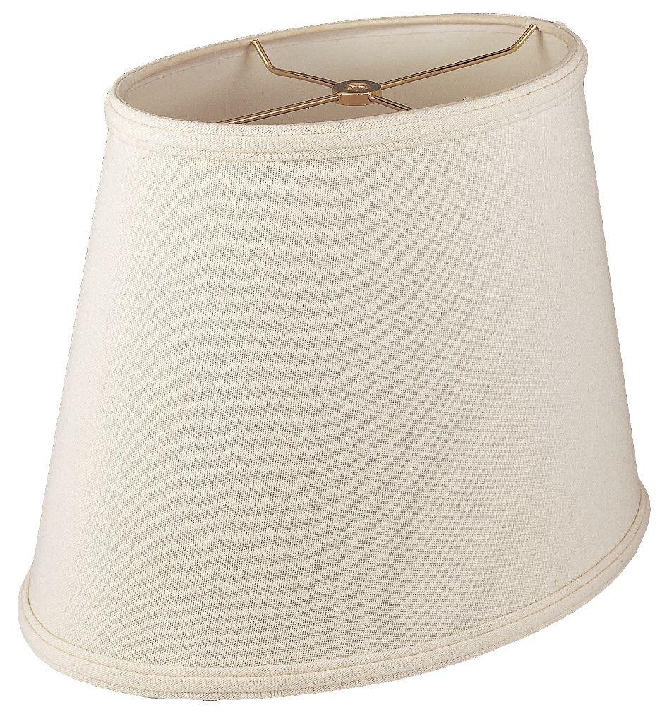Linen Oval Lamp Shade Cream White Beige 12 18 W