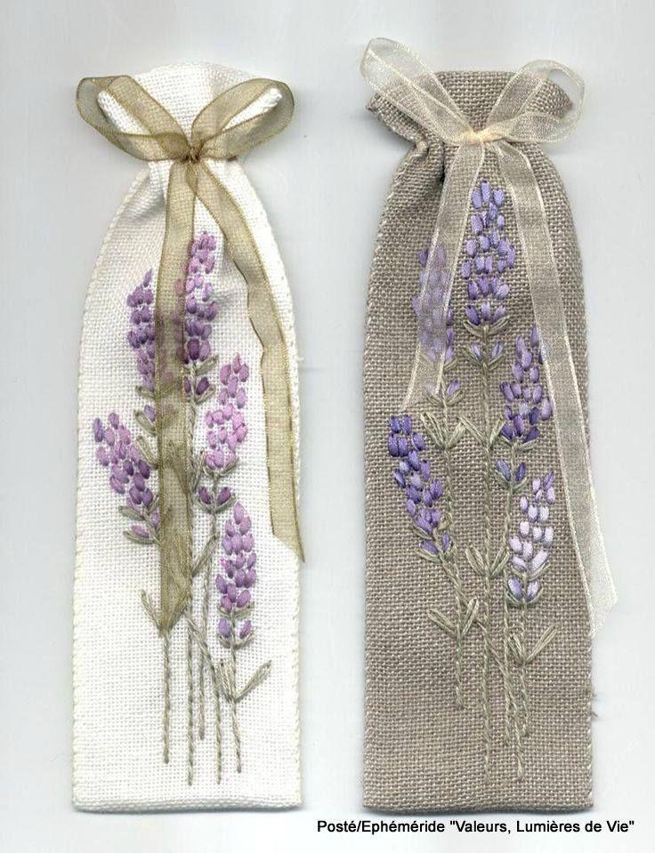 Pin by Anna Solun on Lavender   Bordado, Lavanda, Bordado cinta de seda
