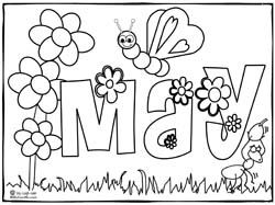 Click To Download And Print May Coloring Page Coloring Coloring