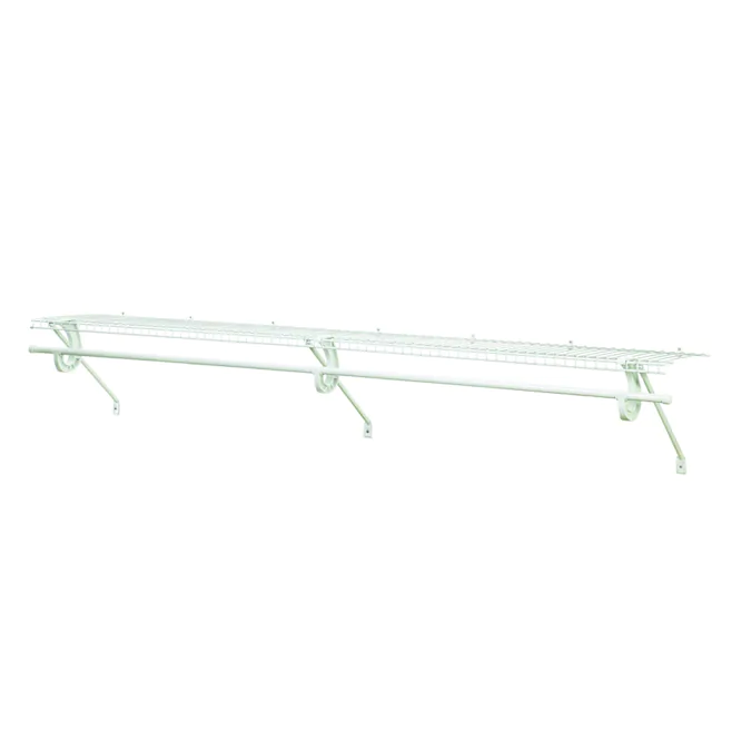 Closetmaid 4 Ft X 12 In White Wire Shelf Lowes Com In 2020 Closetmaid Wire Shelving Shelves