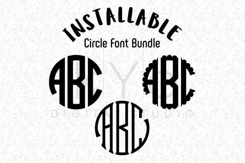Free Installable Circle Monogram Fonts Bundle Circle Ttf Font For Cricut Silhouette Illustrator Photoshop Crafter File In 2020 Circle Monogram Font Monogram Fonts Cricut Monogram Font