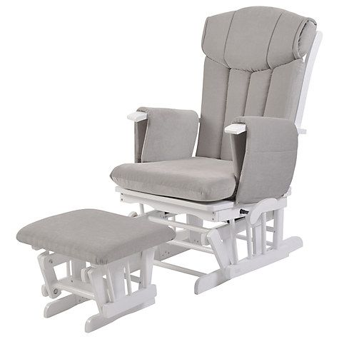 Astounding Kub Chatsworth Glider Nursing Chair And Foot Stool Grey Gamerscity Chair Design For Home Gamerscityorg