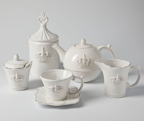 Vintage Crown Tea Set