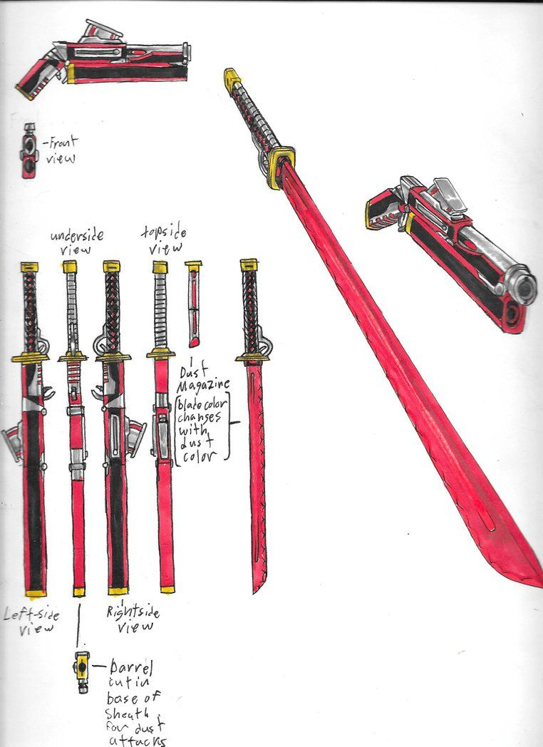 rwby weapon diagram by brothercaptain steve deviantart com on deviantart [ 762 x 1048 Pixel ]