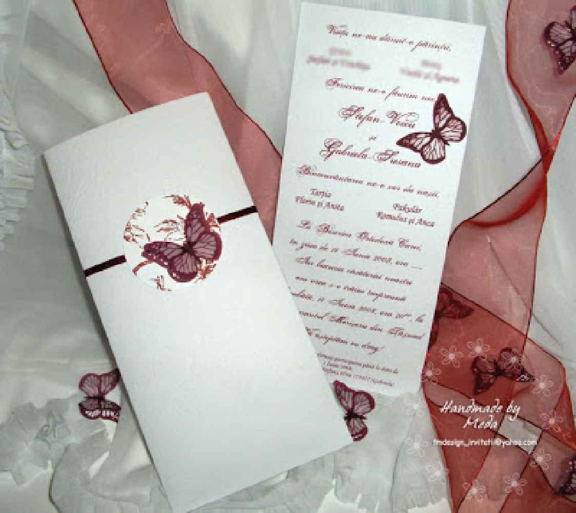 Handmade Wedding Invitations Butterfly Theme | Best Images ...
