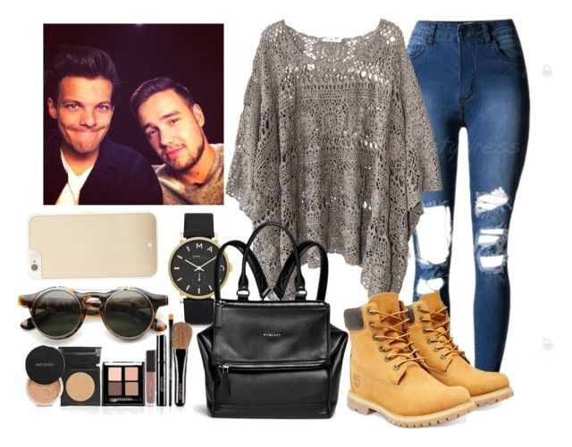 """""""Fun Day w/ Liam and Lou"""" by direction-of-the-summer ❤ liked on Polyvore featuring Kate Spade, Marc by Marc Jacobs, Mes Demoiselles..., Givenchy, Timberland, ZeroUV and Payne"""
