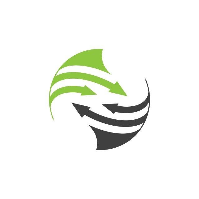 Rounded Arrow Planet Logo Orbit Vector And Satellite Logo