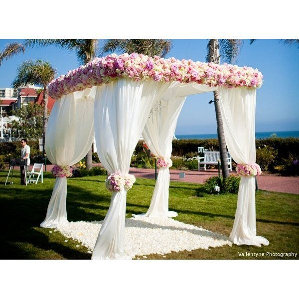 Outdoor Wedding Ceremony Eau Claire: Sheer Elegance W/ This Lovely #chuppah #canopy Decorated
