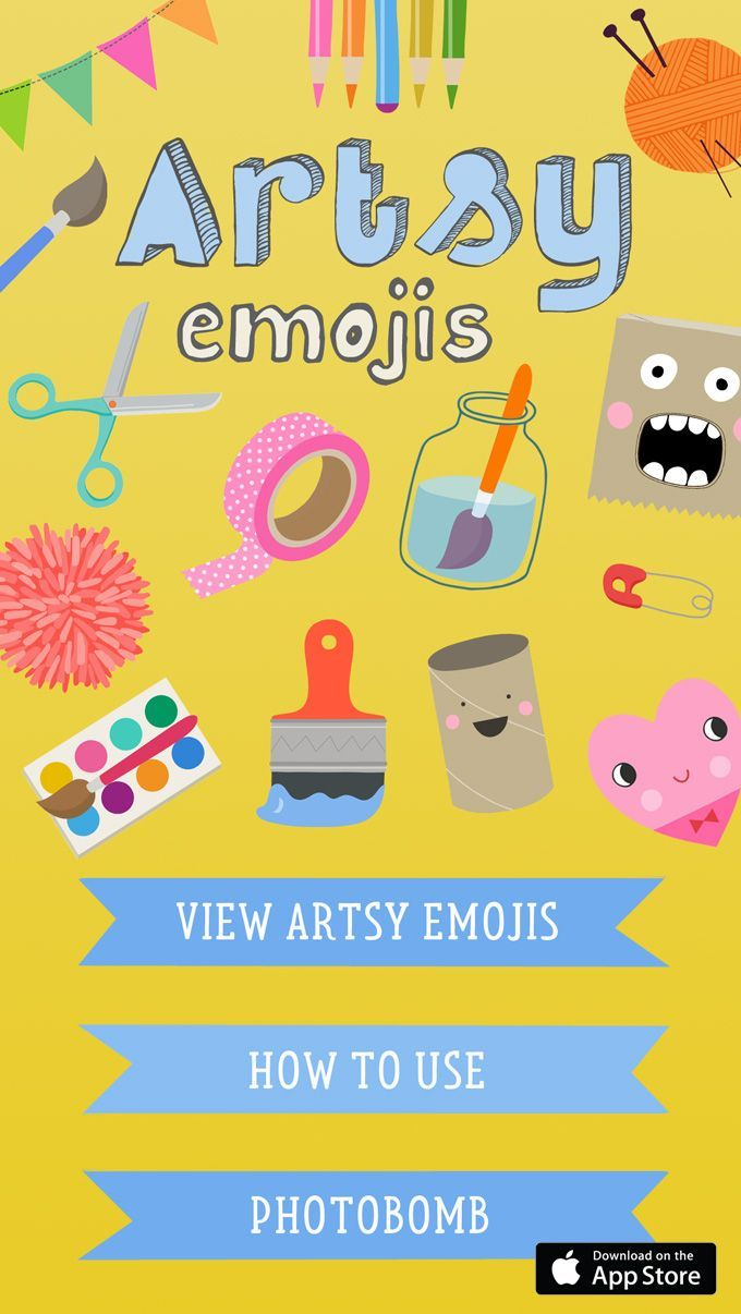 Artsy Emojis The Sticker App For Artsy People Art Bar Blog