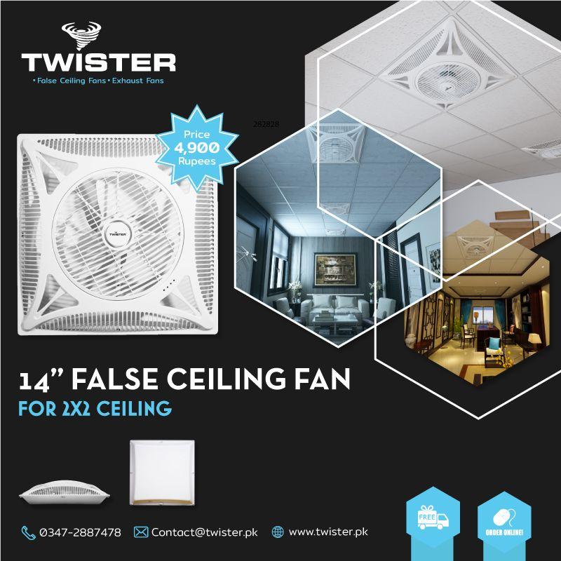 Twister Super Slim False Ceiling Fan 14 Inch Price 4 900 Free