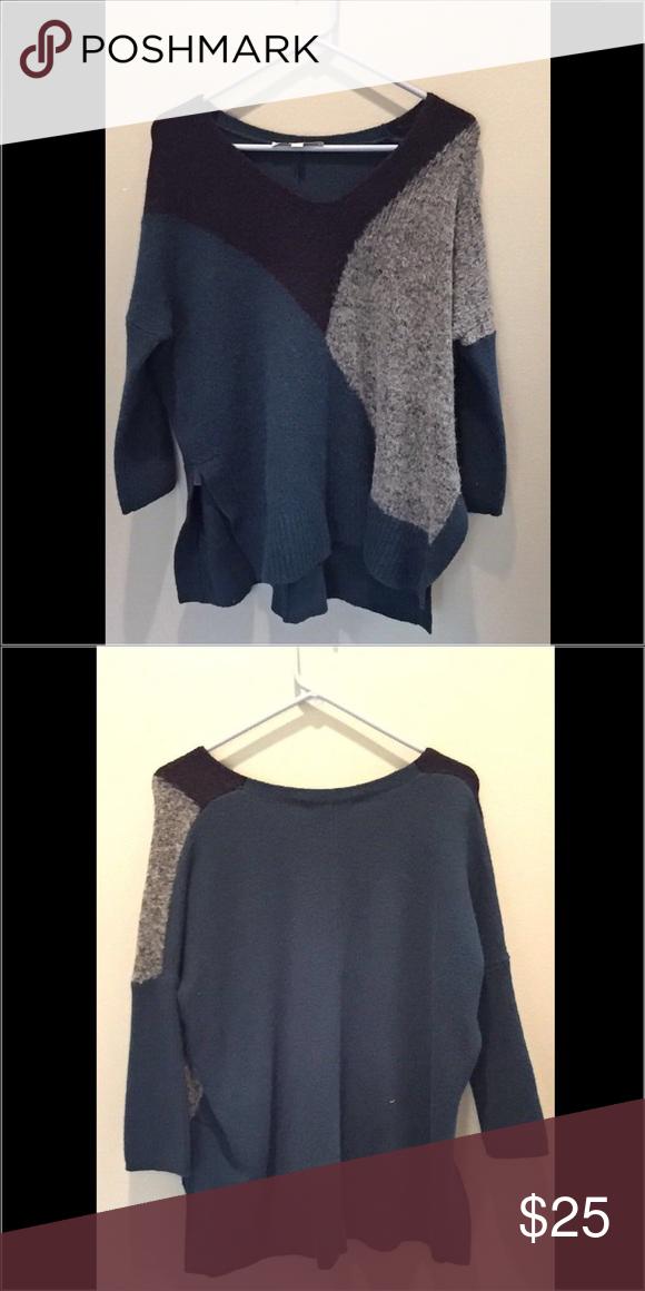 Loft 3/4 length sweater Soft material, slits in sides LOFT Sweaters V-Necks