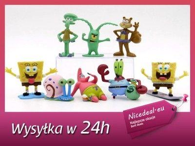 Figurka Figurki Spongebob 8 Sztuk Kanciastoporty Baby Mobile Yoshi Mario Characters
