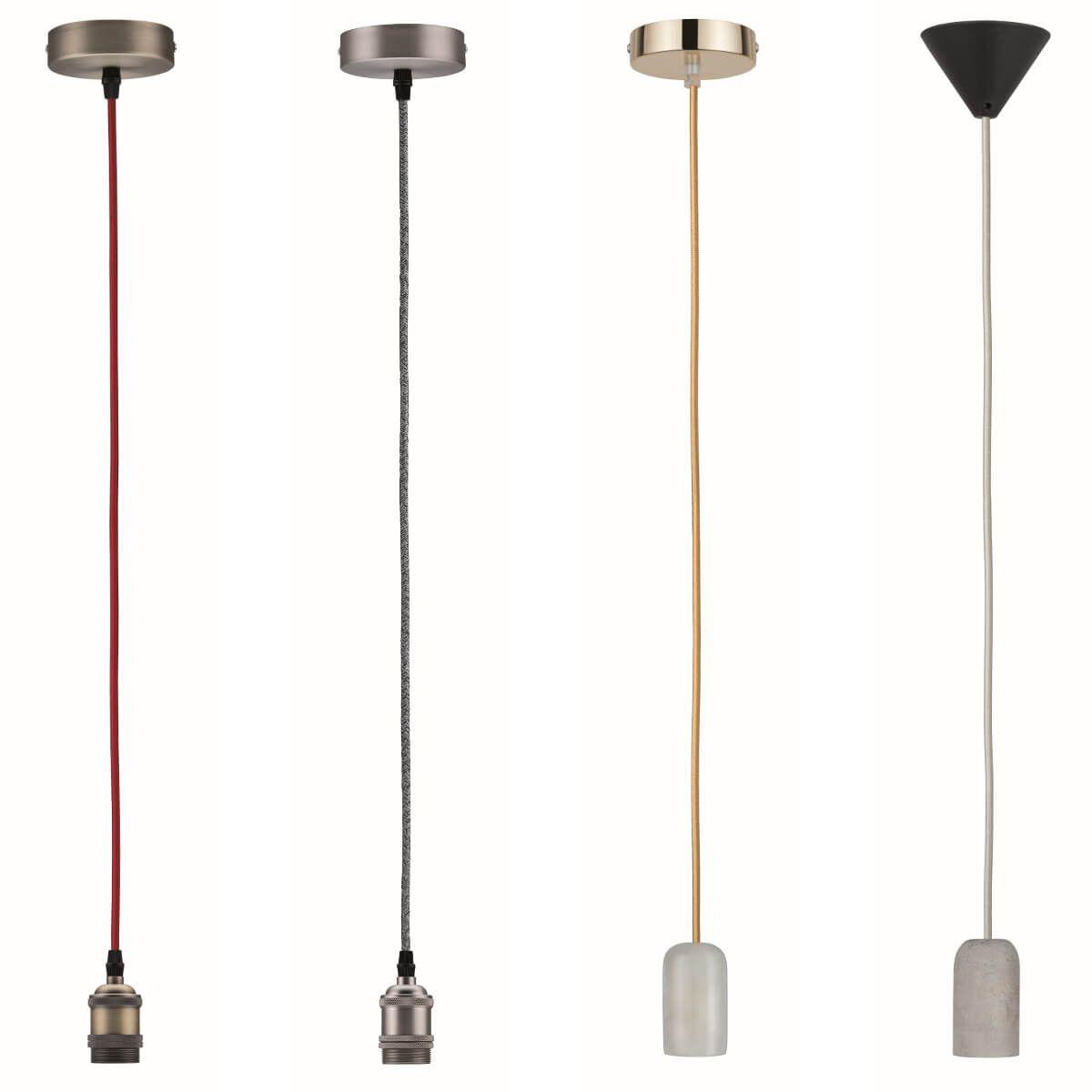 Paulmann Vintage Pendel Mit E27 Fassung Hangeleuchte Mit Farbigem Kabel Gluhbirne Retro Lampe Beton Lichtinstallation
