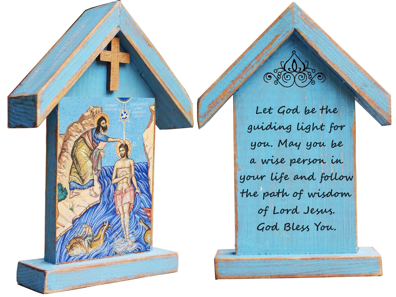 Baptism card messages jesus baptism personalized
