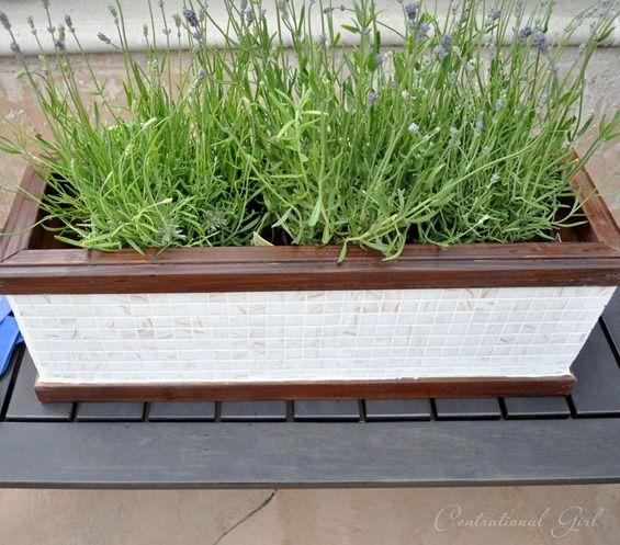 Mosaic Tile Window Box Planter Centsational Style Window Planter Boxes Mosaic Planters Planter Boxes