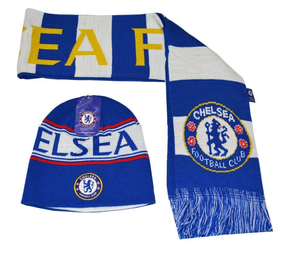 88adb11d046 Chelsea FC Beanie Rerversible and Scarf Reversible Winter Cap Hat New Season   Rhinox  Chelsea