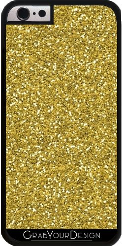 GrabYourDesign - Case for Iphone 6/6S golden glitter - by UtArt #iphonecase #samsungcase #gold #glitter #metalic #coral #silver #scales #utart #betterhome #homedecor #rosegold #rose #quartz