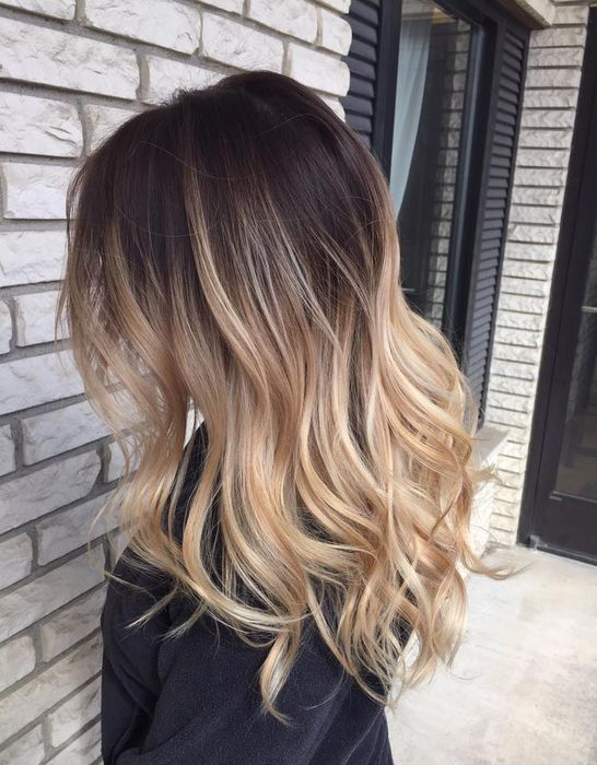 Balayage Ombre For Brunette Dark Hair