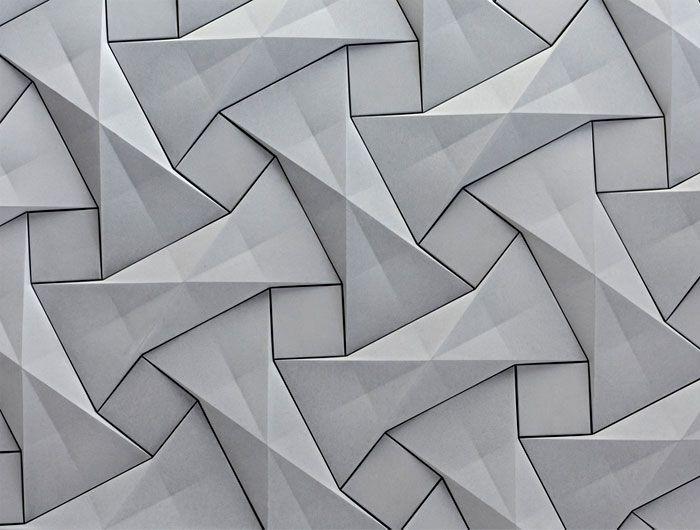 Organic Geometric Concrete Tile By Kaza Concrete Texture Design Wall Patterns Tile Design