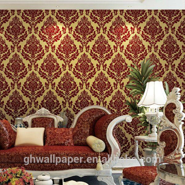 papel tapiz moderno rojo - Buscar con Google Decoracion para el - tapices modernos
