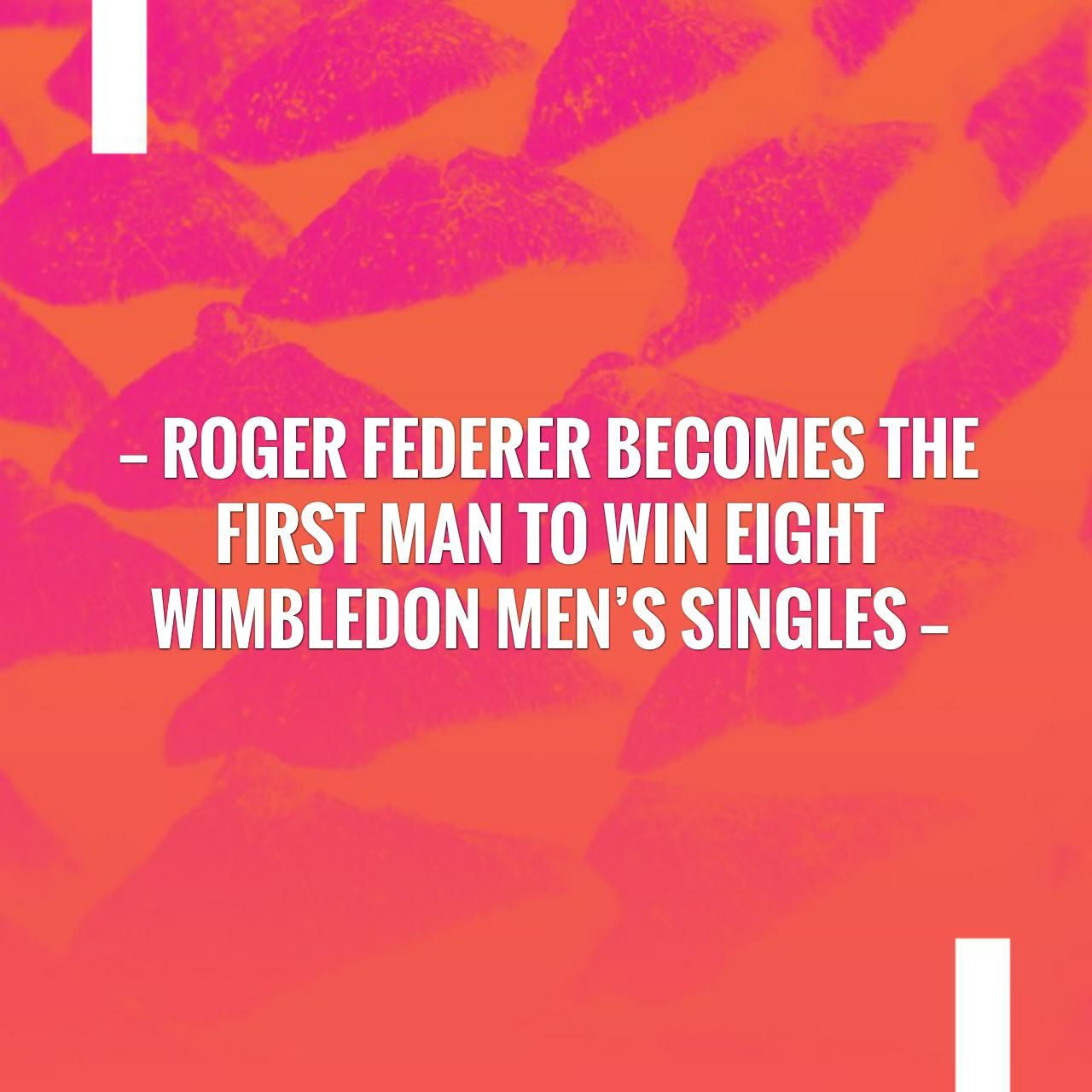 New on my blog! Roger Federer the first man to win
