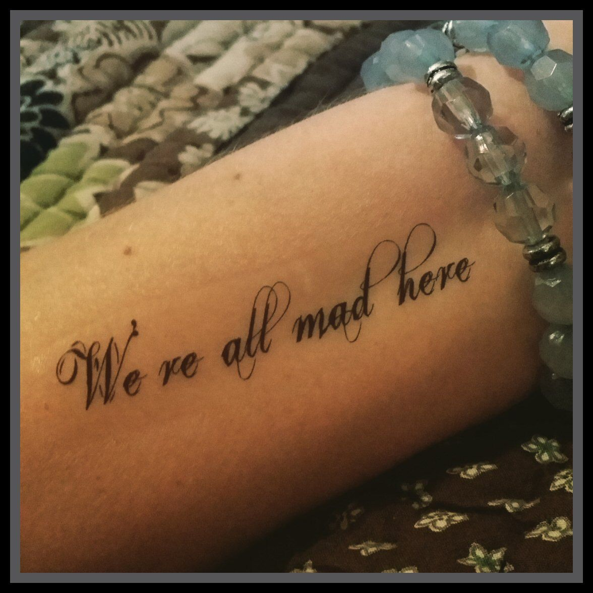 Alice In Wonderland Quote Tattoos: Alice In Wonderland Quotes We're All Mad Here Tattoo