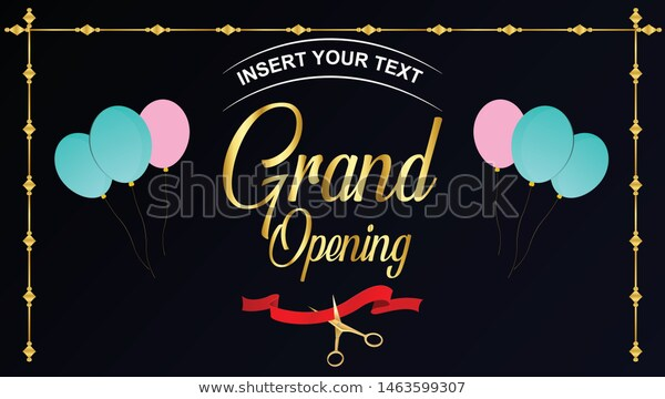 Grand Opening Vector Editable Background Banner Stock Vector Royalty Free 1463599307 Background Banner Grand Opening Banner