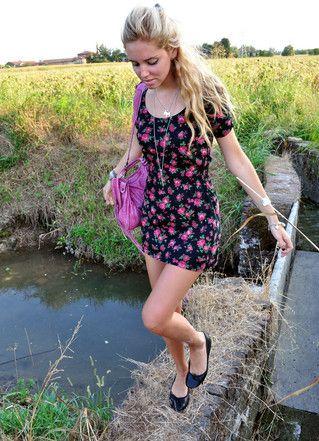 Flower Dress By Top Black Flats Balenciaga City Pink Tiffany