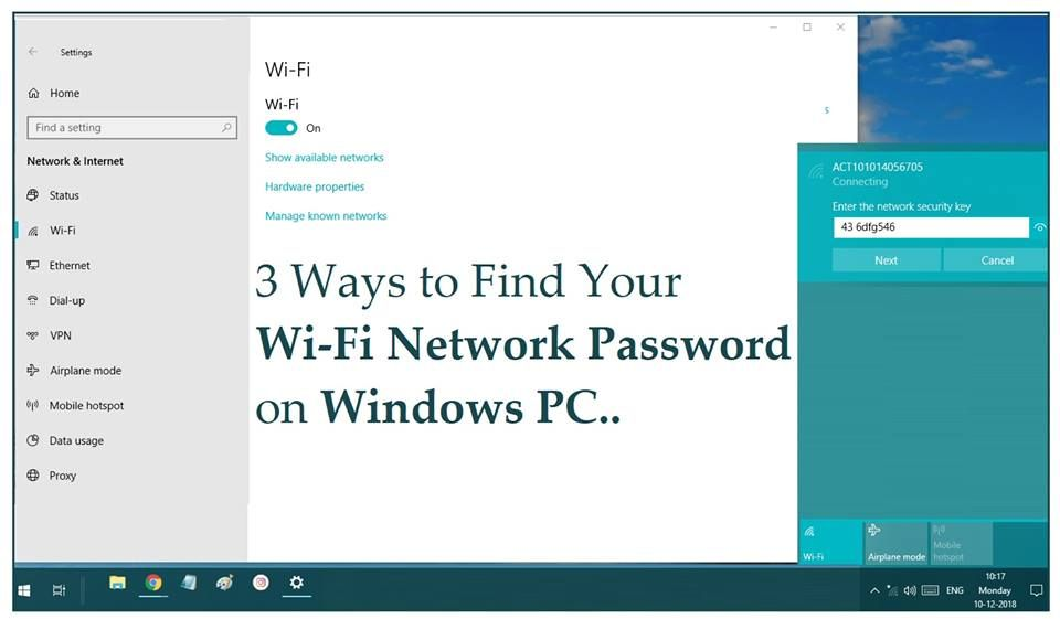 3 Ways To Find Your Wi Fi Network Password On Windows Pc Do You Frequently Forget Your Wi Fi Password Or Don T Know The Pas Finding Yourself Networking Wifi