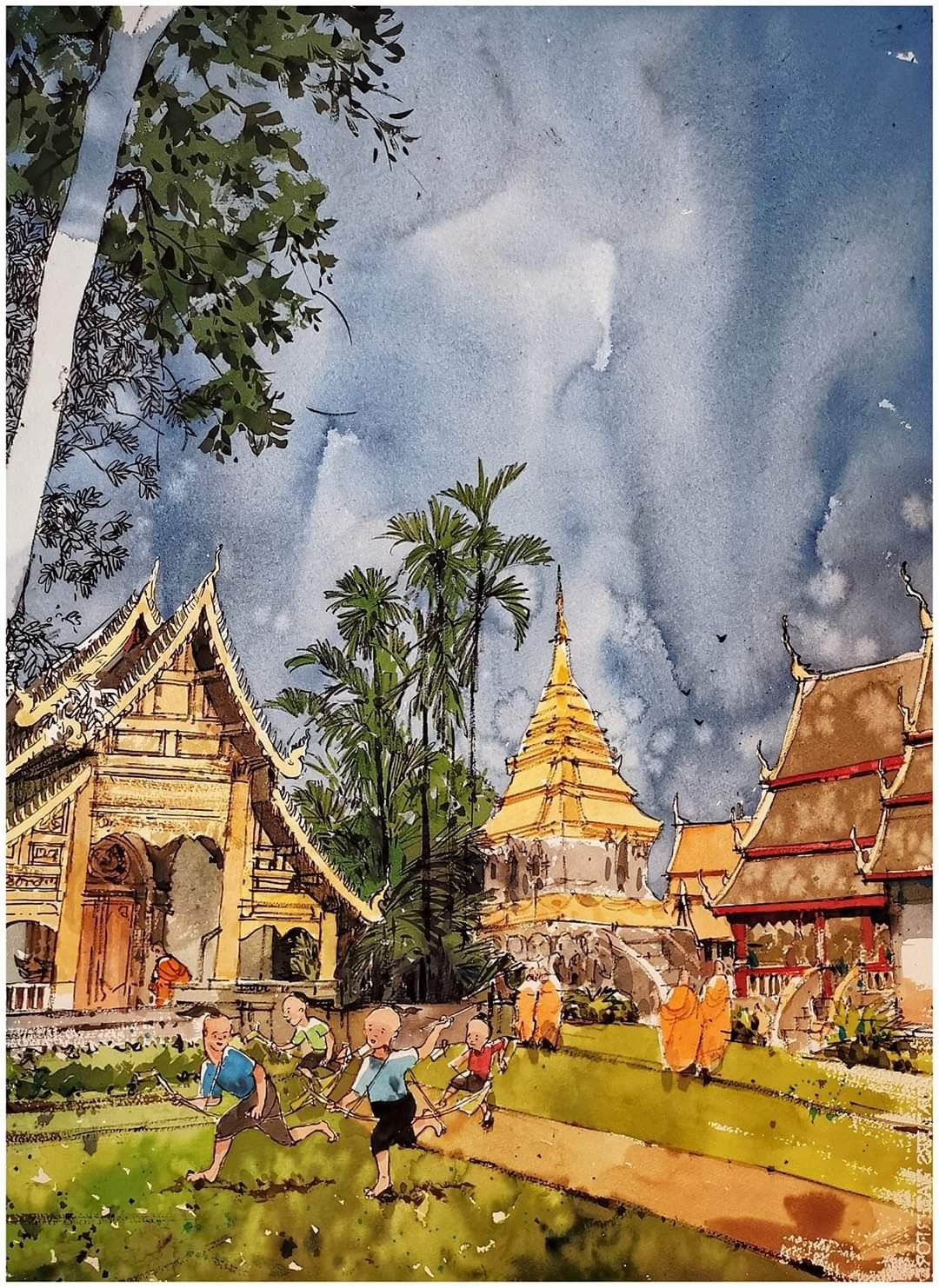 Pin By Kenneth On South East Asian Watercolourist In