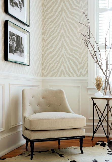 love the animal print wall paper but would it be overwhelming in a - pinturas para salas