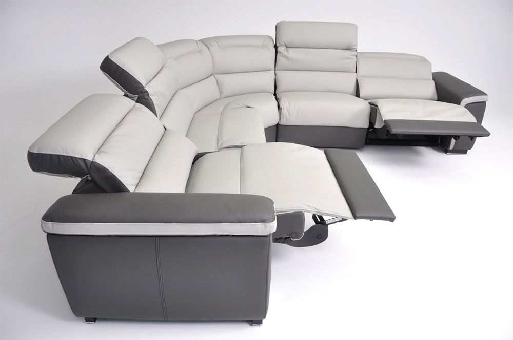 VIG Furniture Caracas - Full Top Grain Italian Leather Sofa Set with Electronic Recliners : top recliners - islam-shia.org