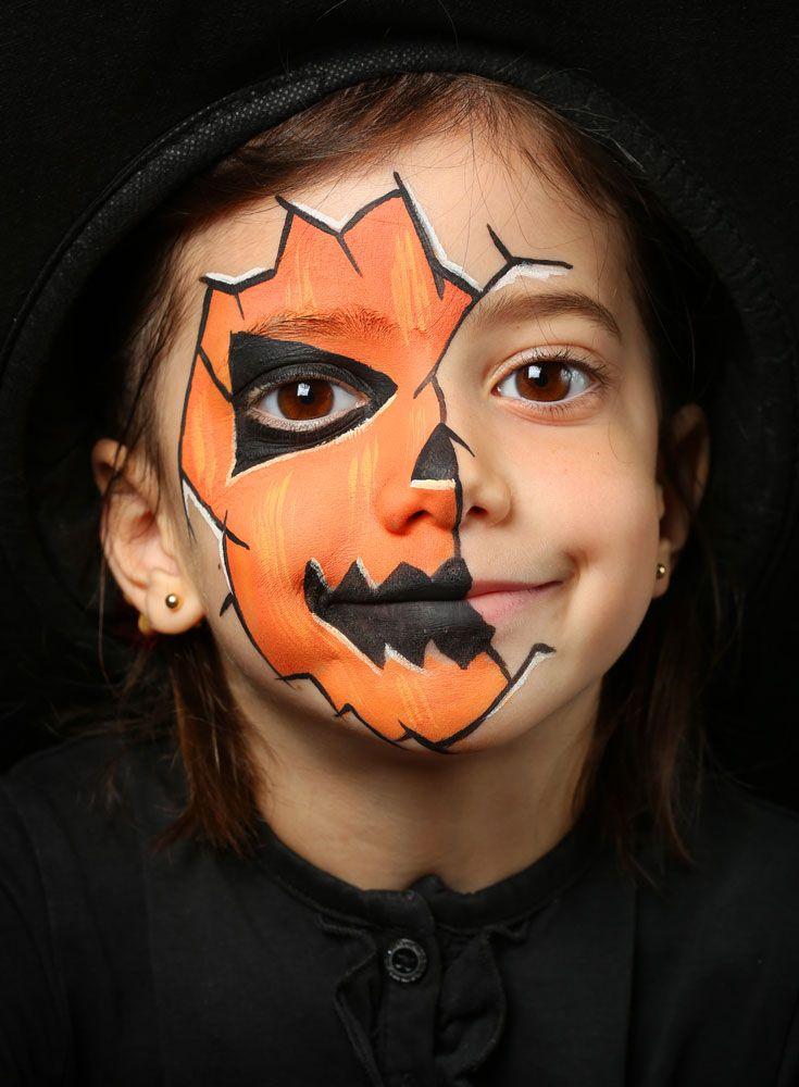 50+ Pretty Scary Halloween Pumpkin Makeup Ideas , chic