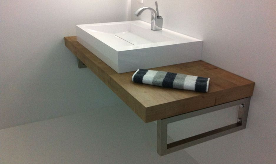 Alternative Waschtischkonsole, Konsolenträger, Bad, Waschtisch - badezimmerwände ohne fliesen