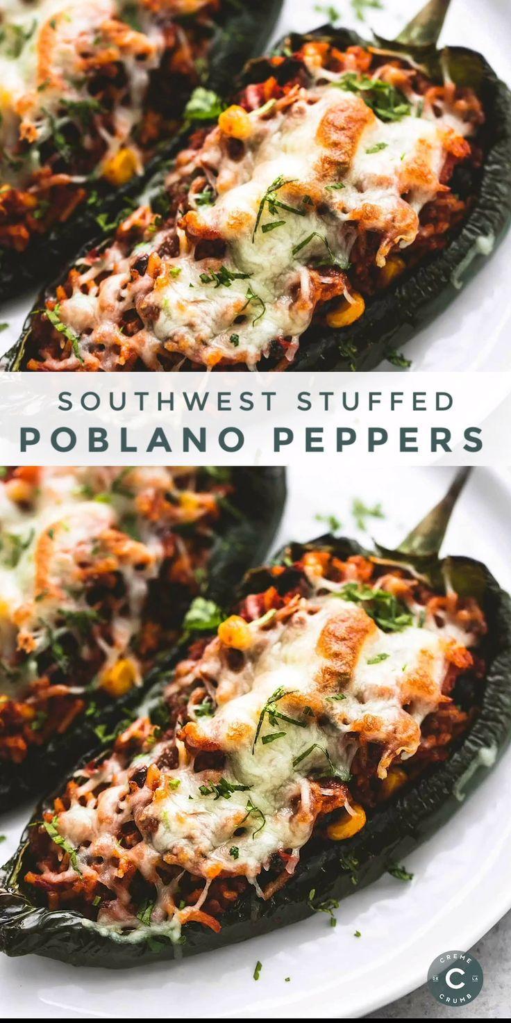 Southwest Stuffed Poblano Peppers | Creme De La Cr