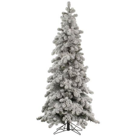 Vickerman Unlit 7\u0027 Flocked Kodiak Spruce Artificial Christmas Tree