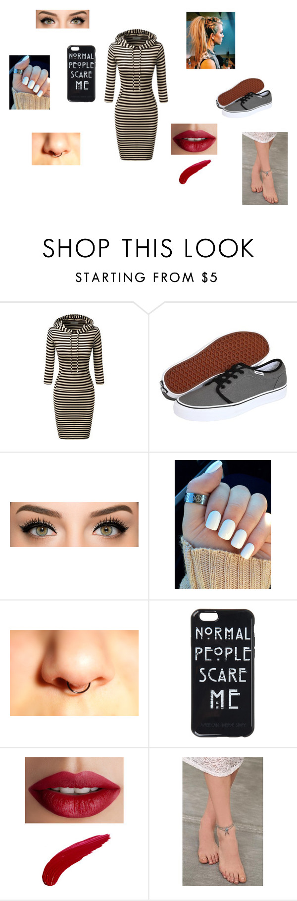 """""""- Just Another Normal Day"""" by malxficent01 on Polyvore featuring beauty, Vans and TheBalm"""