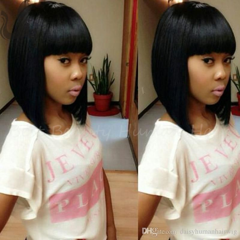 Pin On Bob Wig With With Bangs