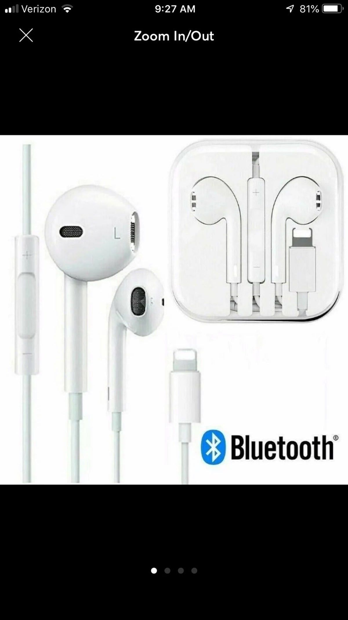 Earbuds for iphone 8 7 plus xr x xs max iphone